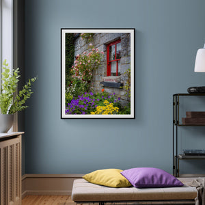 Ireland Print - Flowers at Cassidy's Pub, Carran, County Clare - James A. Truett - Moods of Ireland - Irish Art
