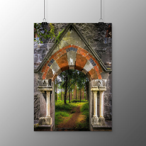 Image of Poster Print - Portal to Portumna Forest, County Galway, Ireland, Irish Wall Art Poster Print Moods of Ireland