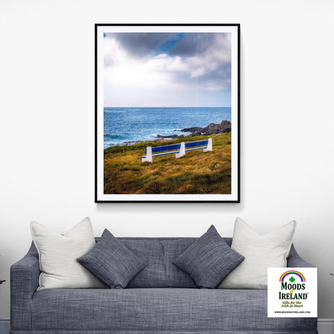 Image of Print - Kilkee Bench along Wild Atlantic, County Clare - James A. Truett - Moods of Ireland - Irish Art