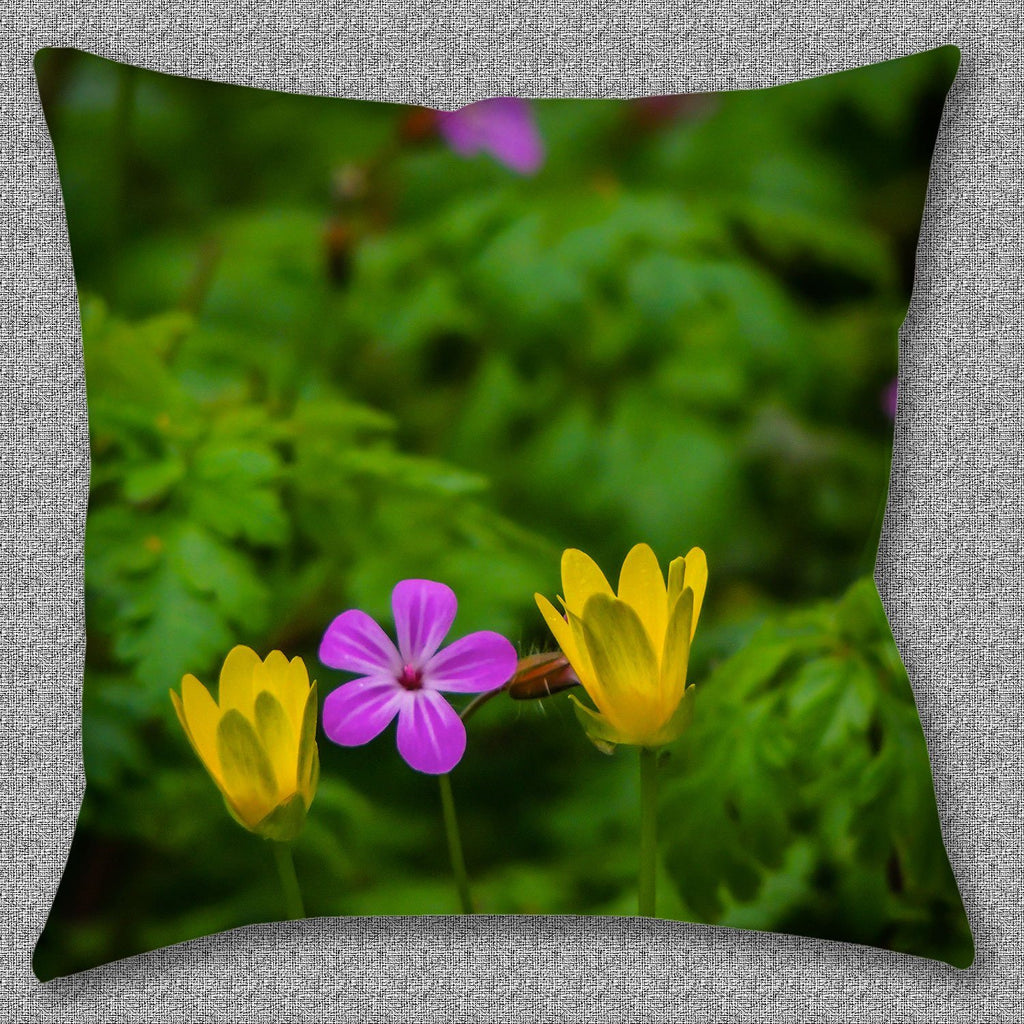 Pillow Cover - Irish Spring Wildflowers at Thoor Ballylee in County Galway Pillow Cover Moods of Ireland