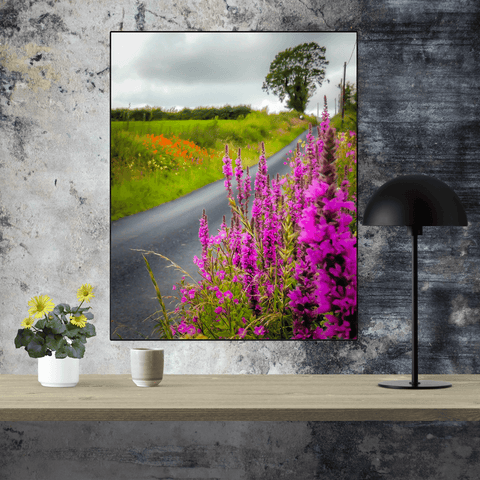 Print - Wildflower-lined Irish Country Road - James A. Truett - Moods of Ireland - Irish Art