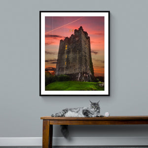 Print - Sunset over Dysert O'Dea Castle, County Clare - James A. Truett - Moods of Ireland - Irish Art