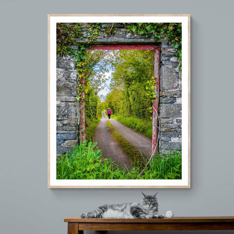 Image of Print - Portal to County Clare Country Road - James A. Truett - Moods of Ireland - Irish Art