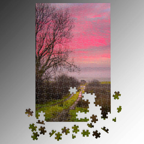 Puzzle - Sunrise over Decomade Meadow, County Clare Puzzle Moods of Ireland