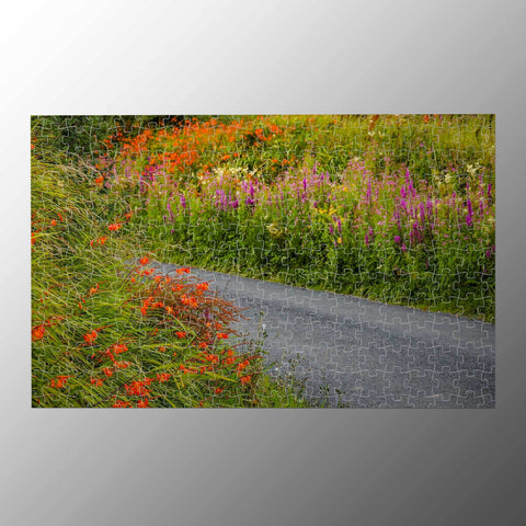 Puzzle - Irish Wild Flowers on a Country Road Puzzle Moods of Ireland