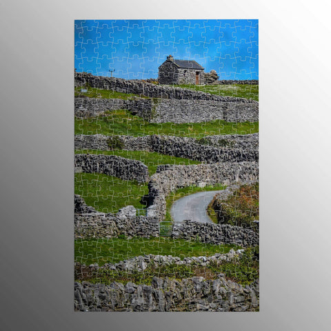 Puzzle - Criss-Crossed Stone Walls of Inisheer, Aran Islands Puzzle Moods of Ireland