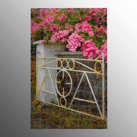 Image of Puzzle - Gate with Irish Roses in County Clare Puzzle Moods of Ireland