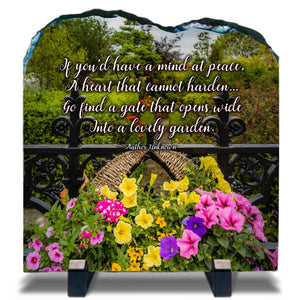 Slate Plaque - If You'd Have a Mind at Peace Slate Plaque Finerworks