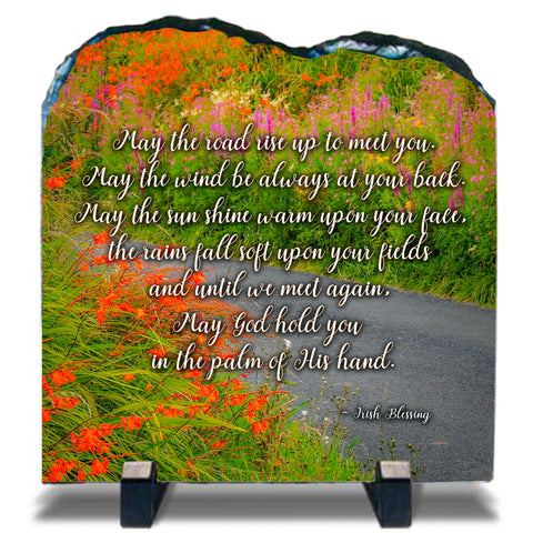 Image of Slate Plaque - May the Road Rise to Meet You - James A. Truett - Moods of Ireland - Irish Art
