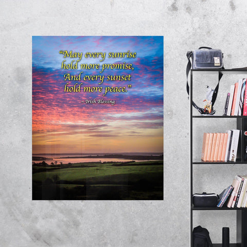 Irish Blessing Print - May Every Sunrise Hold More Promise Irish Blessing - James A. Truett - Moods of Ireland - Irish Art