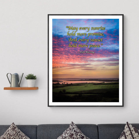 Image of Irish Blessing Print - May Every Sunrise Hold More Promise Irish Blessing - James A. Truett - Moods of Ireland - Irish Art