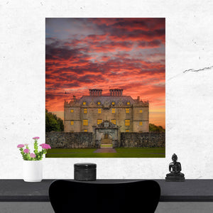 Print - Sunset at Portumna Castle, County Galway - James A. Truett - Moods of Ireland - Irish Art
