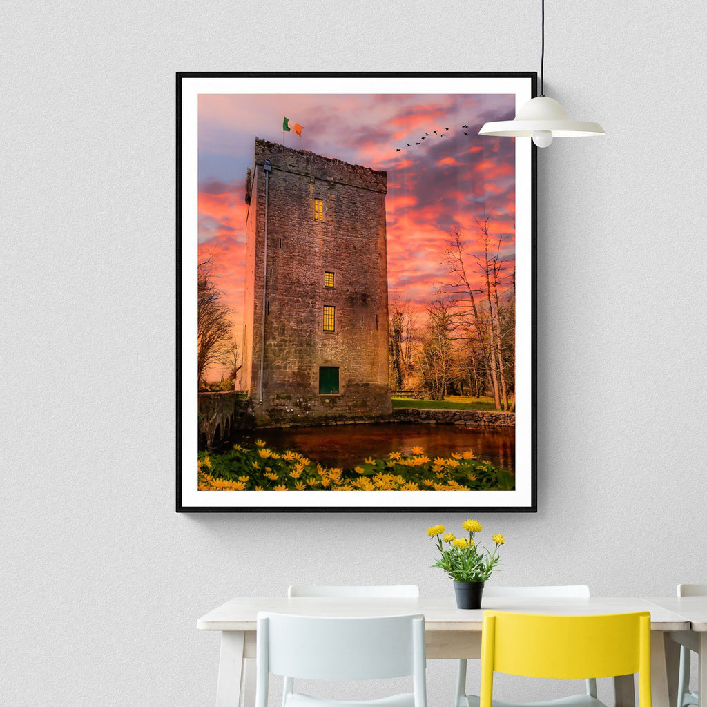 Print - Thoor Ballylee at Sunset, County Galway Poster Print Moods of Ireland