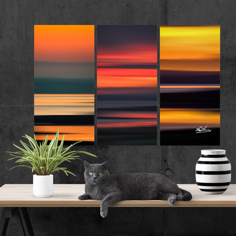 Triptych Canvas - Abstract Irish Sunrises - James A. Truett - Moods of Ireland - Irish Art