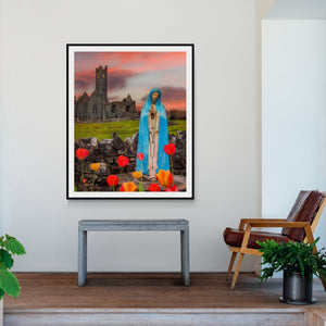 Print - Holy Mother at Quin Abbey, County Clare - James A. Truett - Moods of Ireland - Irish Art