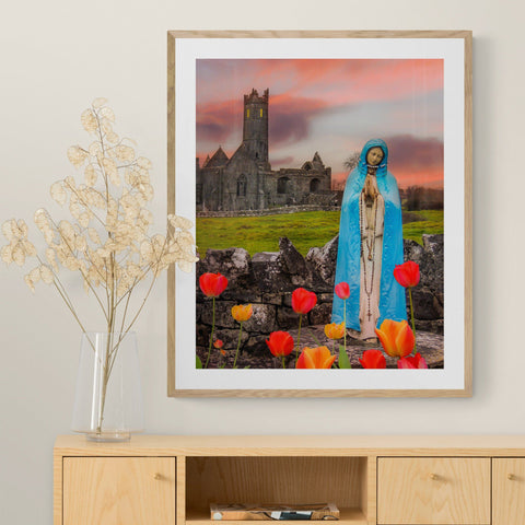 Image of Print - Holy Mother at Quin Abbey, County Clare - James A. Truett - Moods of Ireland - Irish Art