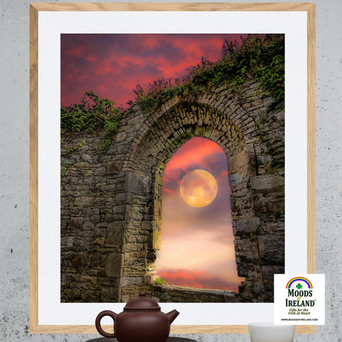 Print - Wolf Moon at Sunrise over County Clare - James A. Truett - Moods of Ireland - Irish Art