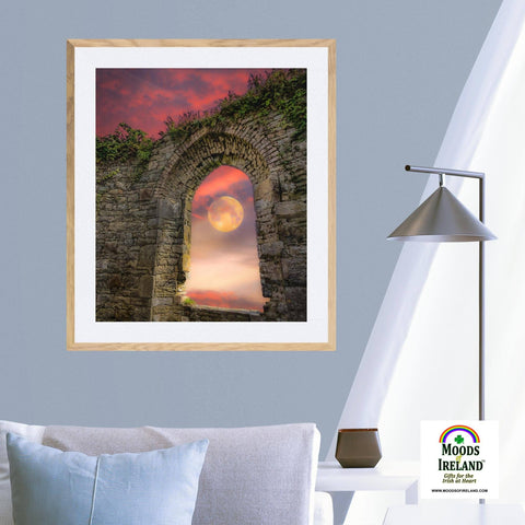 Print - Wolf Moon at Sunrise over County Clare Poster Print Moods of Ireland
