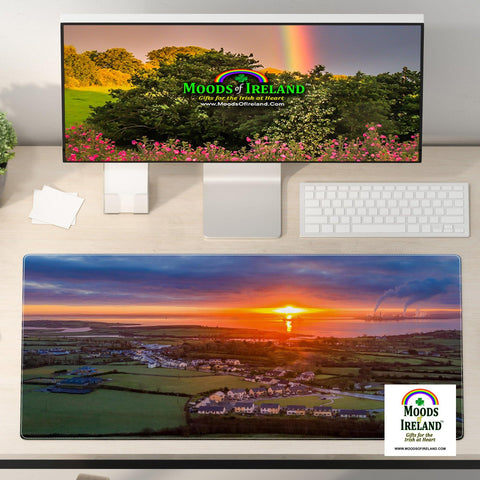 Desk Mat - December Sunrise over Shannon Estuary, County Clare - James A. Truett - Moods of Ireland - Irish Art