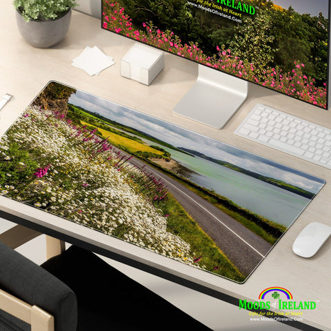 Desk Mat - Wildflowers along Ireland's Shannon Estuary - James A. Truett - Moods of Ireland - Irish Art
