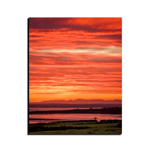 Image of Canvas Wrap - Spectacular Irish Sunrise over Shannon Estuary, County Clare - James A. Truett - Moods of Ireland - Irish Art