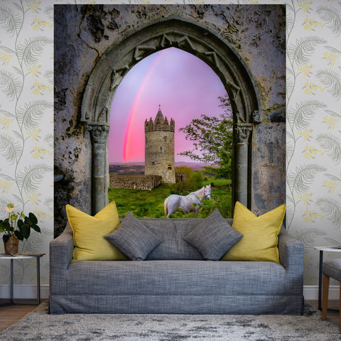 Image of Tapestry - Medieval Castle in the County Clare Countryside - James A. Truett - Moods of Ireland - Irish Art