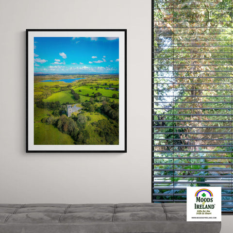 Image of Print - Medieval Dysert O'Dea Castle and Ballycullinan Lough, County Clare - James A. Truett - Moods of Ireland - Irish Art