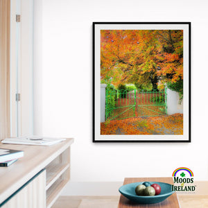 Print - Green Gate in Autumn, County Clare - James A. Truett - Moods of Ireland - Irish Art