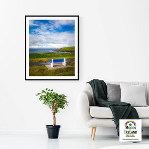 Print - Bench on Kilkee Bay, Wild Atlantic Way, Ireland - James A. Truett - Moods of Ireland - Irish Art