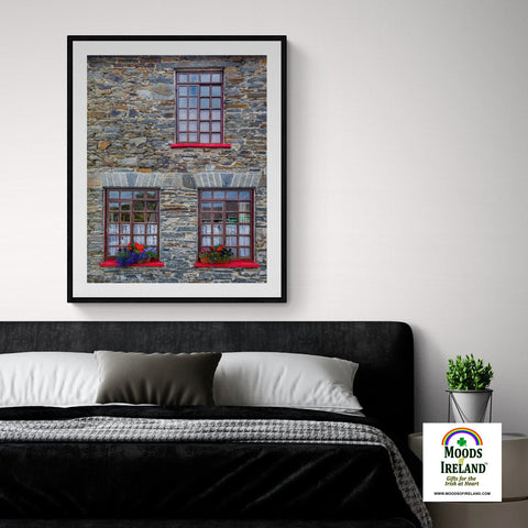 Image of Print - Stone Building in Carrigaholt, County Clare - James A. Truett - Moods of Ireland - Irish Art