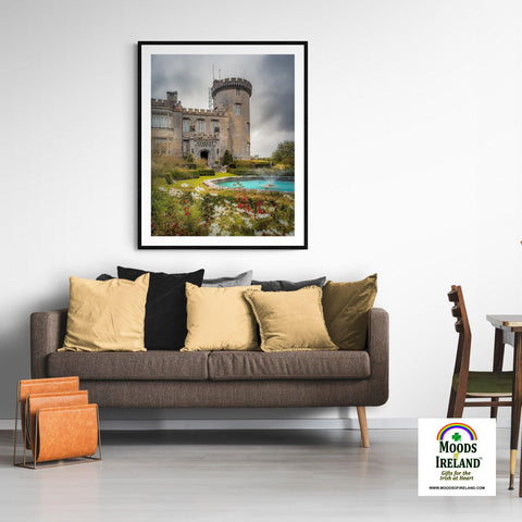 Image of Print - Side entrance and Garden, Dromoland Castle, County Clare - James A. Truett - Moods of Ireland - Irish Art