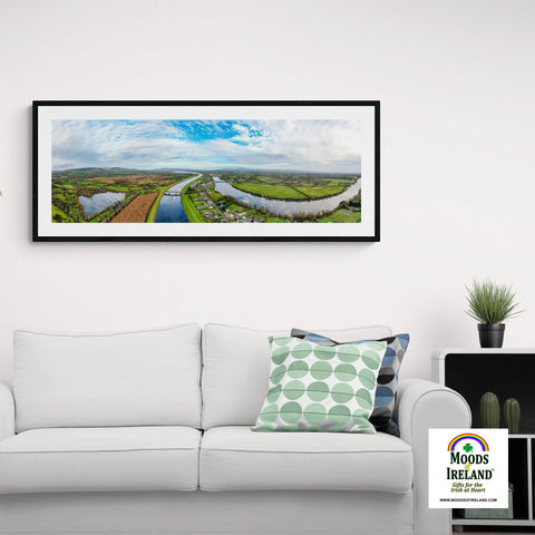 Panorama Print - Historic O'Briensbridge Village, County Clare Panorama Print Moods of Ireland