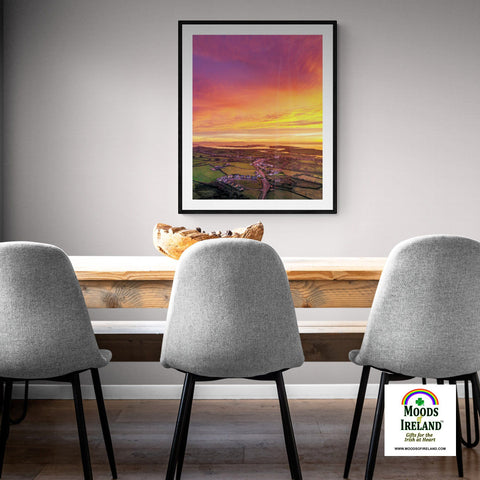 Print - November Sunrise over Kildysart, County Clare - James A. Truett - Moods of Ireland - Irish Art