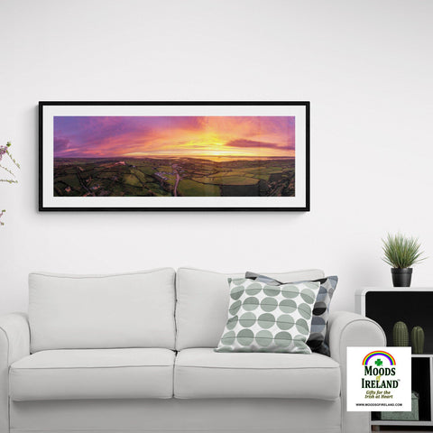 Image of Panorama Print - November Sunrise over Kildysart, County Clare - James A. Truett - Moods of Ireland - Irish Art