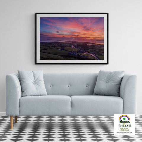 Image of Print - Autumn Dawn over Kildysart, County Clare - James A. Truett - Moods of Ireland - Irish Art