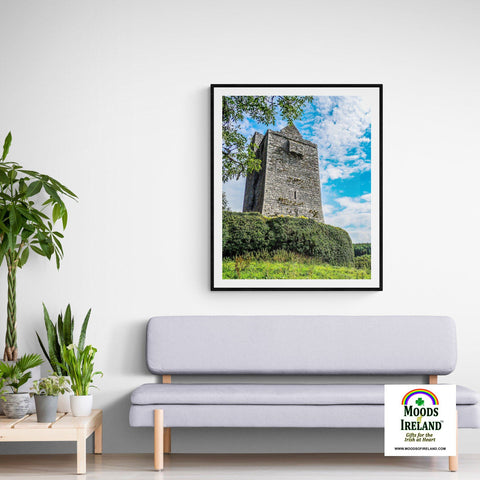 Print - Medieval Ballinalacken Castle in County Clare, Ireland Poster Print Moods of Ireland