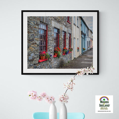 Print - Colourful Carrigaholt Village, Loophead Peninsula, County Clare (Landscape) Poster Print Moods of Ireland