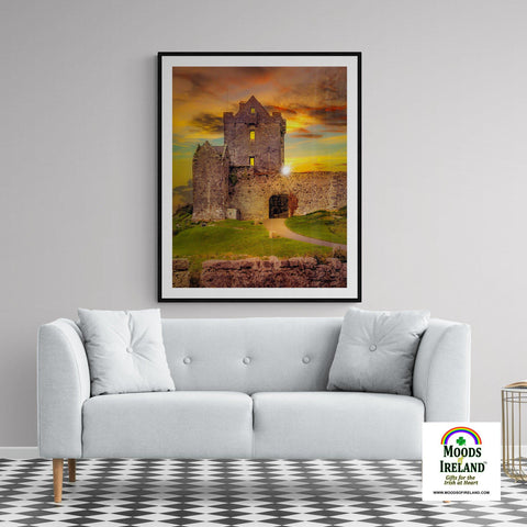 Image of Print - Sunset at Dunguaire Castle, Kinvara, County Galway - James A. Truett - Moods of Ireland - Irish Art