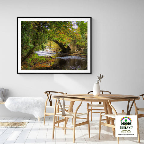 Image of Print - Autumn at Clondegad Bridge, County Clare - James A. Truett - Moods of Ireland - Irish Art