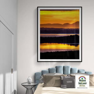 Print - Orange Shannon Estuary Sunrise - James A. Truett - Moods of Ireland - Irish Art