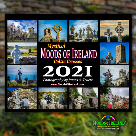 2021 Celtic Crosses Wall Calendar - James A. Truett - Moods of Ireland - Irish Art
