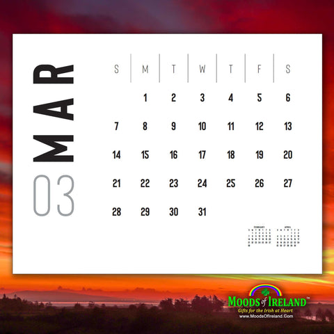 2021 Magical Irish Sunrises Wall Calendar - James A. Truett - Moods of Ireland - Irish Art