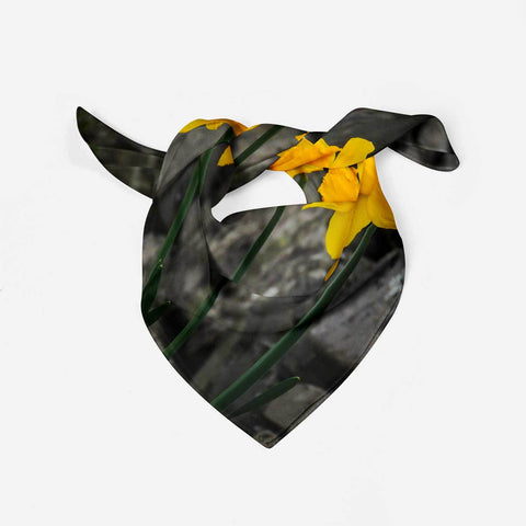 Scarves - Aunt DJ's Daffodils Scarf Moods of Ireland