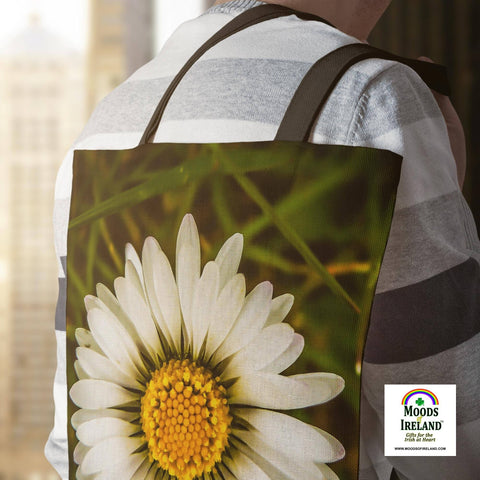 Tote Bags - Wild Irish Daisy Wildflower Tote Bag Moods of Ireland