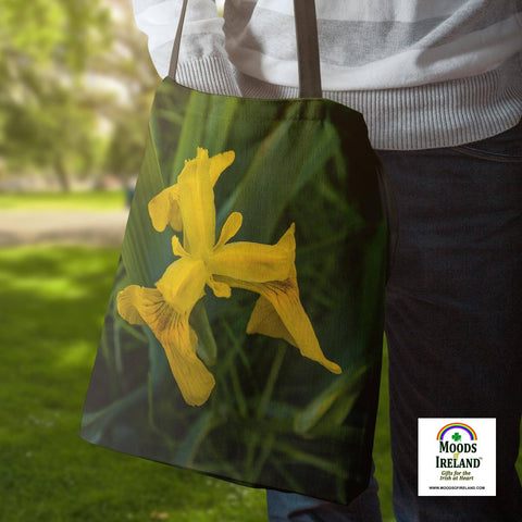 Tote Bags - Wild Irish Flag Iris Tote Bag Moods of Ireland