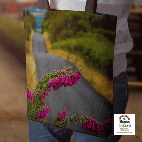 Tote Bag - Foxglove on the Road to Lissycasey, County Clare - James A. Truett - Moods of Ireland - Irish Art