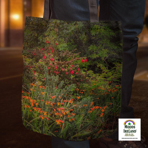 Image of Tote Bag - Irish Summer Wildflowers - James A. Truett - Moods of Ireland - Irish Art