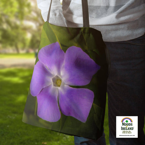 Tote Bags - Wild Irish Periwinkle Tote Bag Moods of Ireland