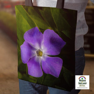 Tote Bag - Wild Irish Periwinkle - James A. Truett - Moods of Ireland - Irish Art