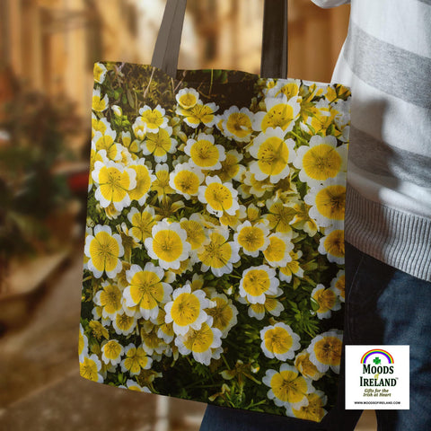 Image of Tote Bag - Irish Poached Egg Flowers - James A. Truett - Moods of Ireland - Irish Art
